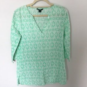J.Crew mint green beach cover-up.